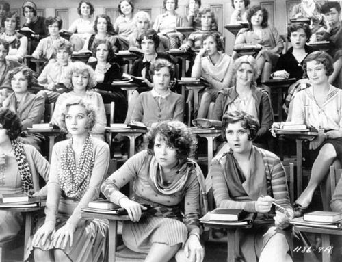 Women in a lecture hall Clara Blow